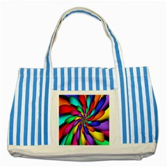 Star Flower Color Rainbow Striped Blue Tote Bag by Mariart