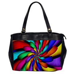 Star Flower Color Rainbow Office Handbags by Mariart