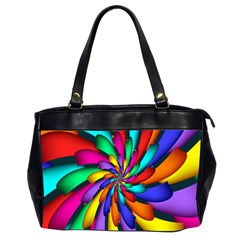 Star Flower Color Rainbow Office Handbags (2 Sides)  by Mariart