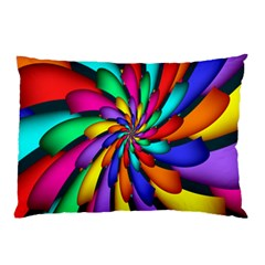 Star Flower Color Rainbow Pillow Case (two Sides) by Mariart