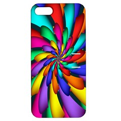 Star Flower Color Rainbow Apple Iphone 5 Hardshell Case With Stand by Mariart