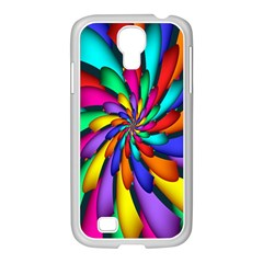 Star Flower Color Rainbow Samsung Galaxy S4 I9500/ I9505 Case (white) by Mariart