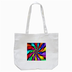 Star Flower Color Rainbow Tote Bag (white) by Mariart
