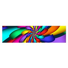 Star Flower Color Rainbow Satin Scarf (oblong) by Mariart