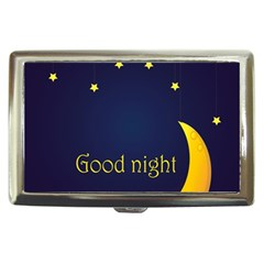 Star Moon Good Night Blue Sky Yellow Light Cigarette Money Cases by Mariart