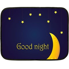 Star Moon Good Night Blue Sky Yellow Light Double Sided Fleece Blanket (mini)  by Mariart