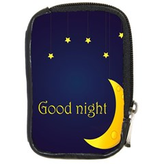 Star Moon Good Night Blue Sky Yellow Light Compact Camera Cases by Mariart