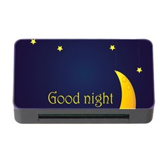 Star Moon Good Night Blue Sky Yellow Light Memory Card Reader With Cf by Mariart