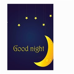 Star Moon Good Night Blue Sky Yellow Light Small Garden Flag (two Sides) by Mariart