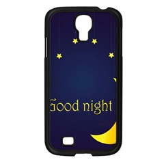 Star Moon Good Night Blue Sky Yellow Light Samsung Galaxy S4 I9500/ I9505 Case (black) by Mariart