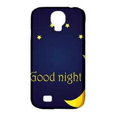 Star Moon Good Night Blue Sky Yellow Light Samsung Galaxy S4 Classic Hardshell Case (pc+silicone) by Mariart