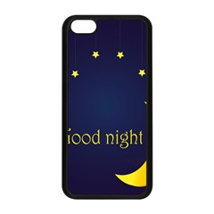 Star Moon Good Night Blue Sky Yellow Light Apple Iphone 5c Seamless Case (black) by Mariart