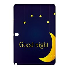 Star Moon Good Night Blue Sky Yellow Light Samsung Galaxy Tab Pro 12 2 Hardshell Case by Mariart