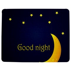 Star Moon Good Night Blue Sky Yellow Light Jigsaw Puzzle Photo Stand (rectangular) by Mariart
