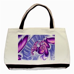 Space Stone Purple Silver Wave Chevron Basic Tote Bag by Mariart
