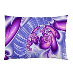 Space Stone Purple Silver Wave Chevron Pillow Case (two Sides) by Mariart