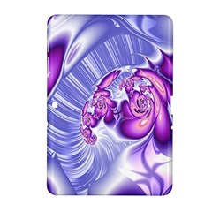 Space Stone Purple Silver Wave Chevron Samsung Galaxy Tab 2 (10 1 ) P5100 Hardshell Case  by Mariart