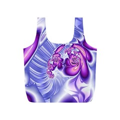 Space Stone Purple Silver Wave Chevron Full Print Recycle Bags (s)  by Mariart