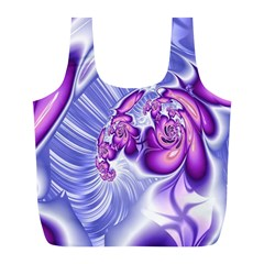 Space Stone Purple Silver Wave Chevron Full Print Recycle Bags (l)  by Mariart