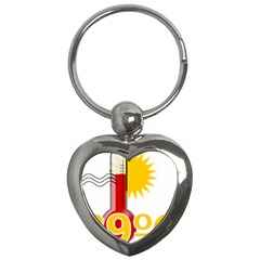 Thermometer Themperature Hot Sun Key Chains (heart)  by Mariart