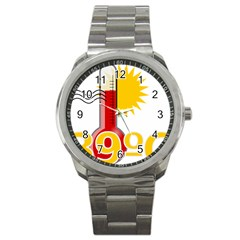 Thermometer Themperature Hot Sun Sport Metal Watch by Mariart