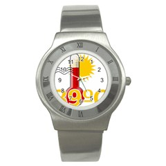 Thermometer Themperature Hot Sun Stainless Steel Watch by Mariart