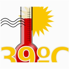 Thermometer Themperature Hot Sun Canvas 16  X 20   by Mariart