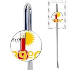 Thermometer Themperature Hot Sun Book Mark by Mariart