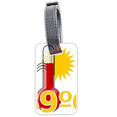 Thermometer Themperature Hot Sun Luggage Tags (one Side)  by Mariart