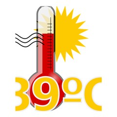 Thermometer Themperature Hot Sun Shower Curtain 60  X 72  (medium)  by Mariart
