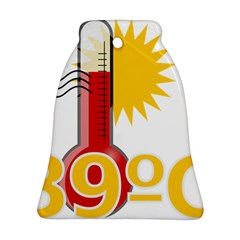 Thermometer Themperature Hot Sun Ornament (bell) by Mariart