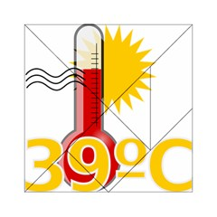 Thermometer Themperature Hot Sun Acrylic Tangram Puzzle (6  X 6 ) by Mariart
