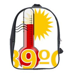 Thermometer Themperature Hot Sun School Bags (xl)  by Mariart