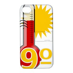 Thermometer Themperature Hot Sun Apple Iphone 4/4s Hardshell Case With Stand by Mariart