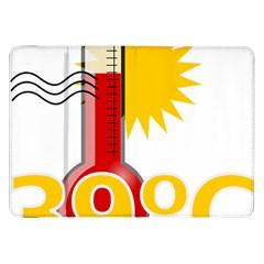 Thermometer Themperature Hot Sun Samsung Galaxy Tab 8 9  P7300 Flip Case by Mariart