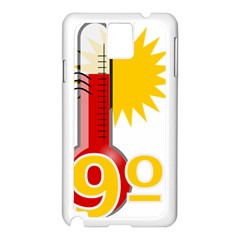 Thermometer Themperature Hot Sun Samsung Galaxy Note 3 N9005 Case (white)