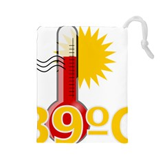 Thermometer Themperature Hot Sun Drawstring Pouches (large)  by Mariart