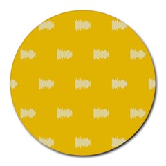 Waveform Disco Wahlin Retina White Yellow Round Mousepads by Mariart