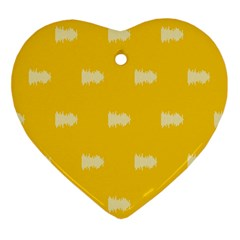 Waveform Disco Wahlin Retina White Yellow Ornament (heart) by Mariart