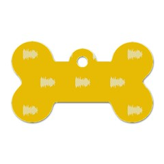 Waveform Disco Wahlin Retina White Yellow Dog Tag Bone (two Sides) by Mariart