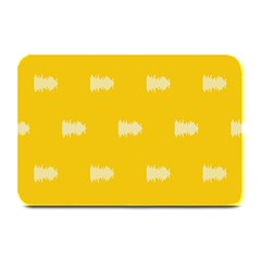 Waveform Disco Wahlin Retina White Yellow Plate Mats by Mariart