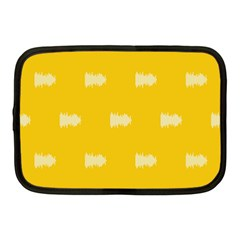 Waveform Disco Wahlin Retina White Yellow Netbook Case (medium)  by Mariart