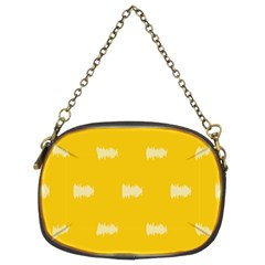 Waveform Disco Wahlin Retina White Yellow Chain Purses (two Sides)  by Mariart