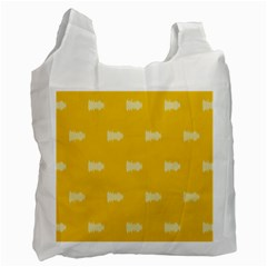 Waveform Disco Wahlin Retina White Yellow Recycle Bag (one Side) by Mariart