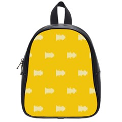 Waveform Disco Wahlin Retina White Yellow School Bags (small)  by Mariart