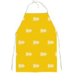 Waveform Disco Wahlin Retina White Yellow Full Print Aprons by Mariart