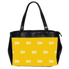 Waveform Disco Wahlin Retina White Yellow Office Handbags (2 Sides)  by Mariart