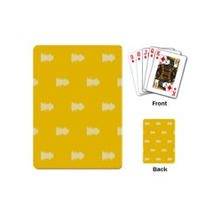Waveform Disco Wahlin Retina White Yellow Playing Cards (mini)  by Mariart