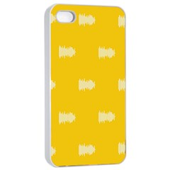 Waveform Disco Wahlin Retina White Yellow Apple Iphone 4/4s Seamless Case (white) by Mariart