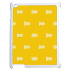 Waveform Disco Wahlin Retina White Yellow Apple Ipad 2 Case (white) by Mariart